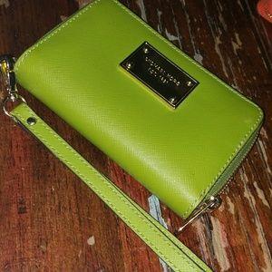 Gorgeous hot green Michael Kors wallet